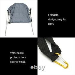 160120110CM Foldable Top Boat Cover Bimini Top Canopy Bikini 2 Bow Clip