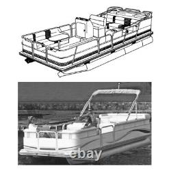 18'6 L x 102 W Pontoon Boat w Fully Enclosed Deck & Bimini Top Boat Cover