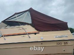 1986 Sun Runner 220 SB ENCLOSURE SET CANVAS MARINE BOAT Bimini Top
