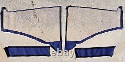 2008 Boston Whaler 205 Eastport Bimini Top Side Isinglass Curtain Canvas 4pc Set