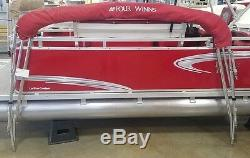 2012 Four Winns Bimini Top for 87-94 Gunwale, Red see descrip for shipping