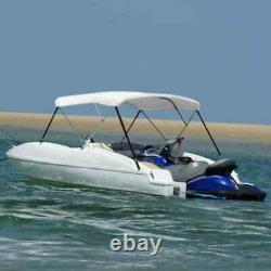 3 Bow Bimini Top Sturdy Weather Resistant Boat Cover 6FT With Boot White