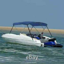 3Bow Bimini Top Sturdy Weather Resistant Boat Cover 6FT W Boot Blue 6'x5.9'x4.6