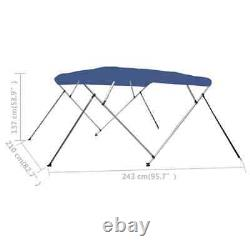 4 Bow Bimini Top Blue 95.7x82.7x53.9