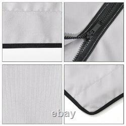 4 Bow Bimini Top Boat Cover 54 High x 8'L x 79-84 W Gray 600D Oxford Fabric