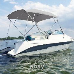 4 Bow Bimini Top Canopy Boat Roof Cover Anti-UV 8FT Long 54 High 67-72 Width