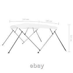 4 Bow Bimini Top White 8'x5.9'x3.8