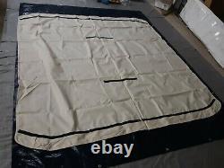 4-Bow Pontoon Bimini Top, Fabric Only, 91-96W x 8'L x 54H, Linen 1160