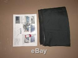 6' Long X 79-84 Wide Grey Boat Bimini Shade Canopy Top Cover Bikini 3 Bow Gray