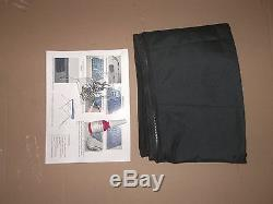 79-84 Inch Black Boat Bimini Shade Canopy Top Cover Bikini 3 Bow 80 81 82 83 84