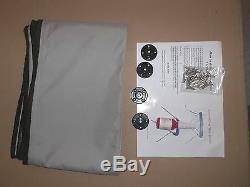 8' Long X 91-96 Inch Black Boat Bimini Shade Canopy Top Cover Bikini 4 Bow Boot