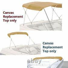 BIMINI TOP BOAT COVER CANVAS FABRIC tan FITS 4 BOW 96L 54H 85-90W withboot