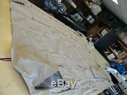 BIMINI TOP COVER 4 BOW With FLAPS & BIMINI BOOT TAN 107 X 88 MARINE BOAT