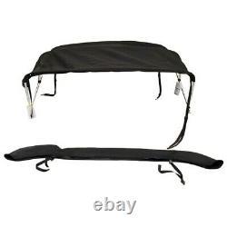 Bayliner / Sea Ray 2030034 Sunbrella Blk 175Br 78 -82 Aluminum Boat Bimini Top