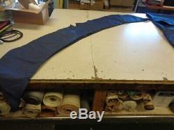 Bennington 14534 Bimini Top Cover 112 X 128 With Boot Blue Marine Boat