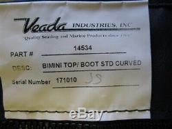Bennington Bimini Top Cover W / Boot Blue 109 X 113 Marine Boat