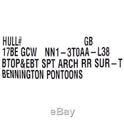 Bennington Pontoon Boat Bimini Top 17BEGCWNN1-3T0AA-L38 Burgundy
