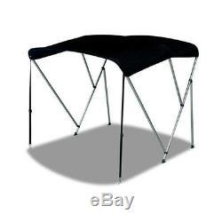 Bimini 3 Bow Top Boat Cover Black 79-84 6 Foot Long 1 Double Walled Aluminum