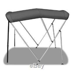 Bimini Top 3 Bow 61- 66 Wide 6ft Long Grey PREMIUM RANGE With Rear Poles