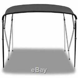 Bimini Top 3 Bow 79- 84 Wide 6ft Long Grey PREMIUM RANGE With Rear Poles