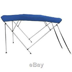 Bimini Top 4 Bow Boat Cover Kit with Rear Poles Tops 59-103Wide 52High 95Long