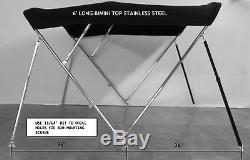 Bimini Top 6' long -Stainless Steel Frame 5 Year Warranty Fabric
