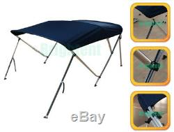Bimini Top 67-72 Free Clips 3 Bow Boat Canopy Cover 6 ft Support Poles GB3N2