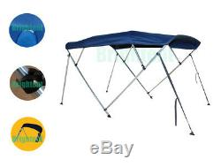 Bimini Top 91-96 Free Clips 4 Bow Boat Canopy Cover 8 ft Support Poles GB4N3