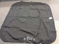 Bimini Top Black Canvas 78 1/2 X 74 Marine Boat