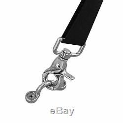 Bimini Top Boat Cover 4 Bow 54 H 67 72 W 8' Long Solution Dye 600D Black