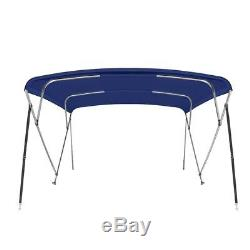 Bimini Top Boat Cover 4 Bow 54 H 79 84 W 8 ft. L. Solution Dye Navy Blue