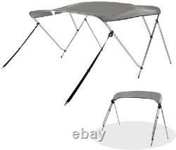 Bimini Top Boat Roof Cover 3 Bow 6ft Long 67-72W, 46 withRear Surpport Pole