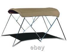 Boat Bimini Top withFramework 6' L x 61-66 W x 36 H Sunbrella Fabric 12 Colors