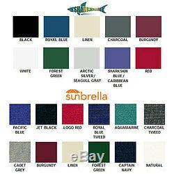 Boat Bimini Top withFramework 6' L x 61-66 W x 46 H Sunbrella Fabric 12 Colors