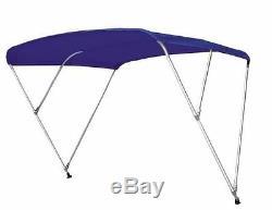 Boat Bimini Top withFramework 8' L x 54-60 W x 54 H Sunbrella Fabric 12 Colors