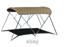 Boat Bimini Top withFramework 8' L x 79-84 W x 54 H Sunbrella Fabric 12 Colors