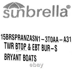 Bryant Boat Tower Bimini Top Speranza 83 86 Inch Burgundy 2015