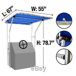 Budge Heavy Duty Waterproof Fade Resistant T-Top Bimini Combo Blue