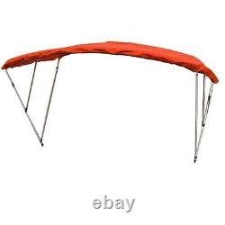 Carver Industries A5487Tb-3 Red 3-Bow 82-94 In Aluminum Boat Bimini Top / Cover