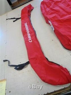 Chaparral 236 Ssi Bimini Top Cover W / Boot 106986003-001 Red 74 1/2 X 72 Boat