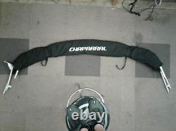 Chaparral 237SSX Bimini top Black with diamond bk tower