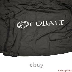Cobalt Boat Mooring Cover 464768 243 with Bimini Top Black 2011 2016