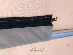 Complete Bimini Top Kit, Frame+Canvas+Hardware, 10L'x8'W Beige, Lifetime Warranty