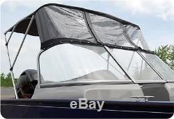 Convertible Bimini Top for DEEP V Aluminum Fishing Boat 4'L X 49H 67- 72W