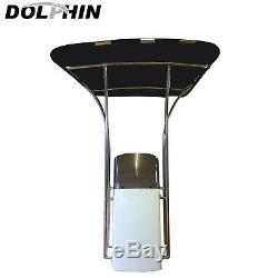 Dolphin 1 Stainless Fully Adjustable Basic T TOP Boat Bimini T Top minor defect