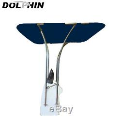 Dolphin Boat T Top Fully Adjustable 1 Stainless Frame Bimini T Top Blue Canopy