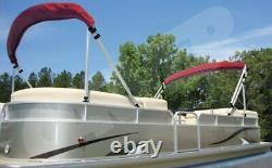 Dual Pontoon Bimini Boat Top Kit- USA-MADE- Max height 48 Max Length 16