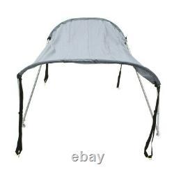 Foldable Awning Inflatable Boat Bimini Top Canopy Bikini 2 Bow Clips Shade Cover
