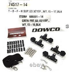 G3 Boat Bimini Top 73521852 Angler V21 SF Black Dowco 74517-14 (Kit)