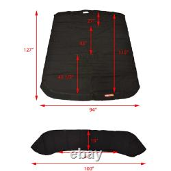 G3 Boat Bimini Top Cover with Boot Black NN1-3X21AA-A08
